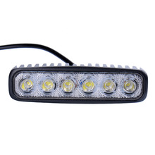 10pcs LED Spotlights 1800LM Mini 6 Inch 18W 6 x 3W Car LED Light Bar as Worklight / Flood Light / Spot Light for Boating