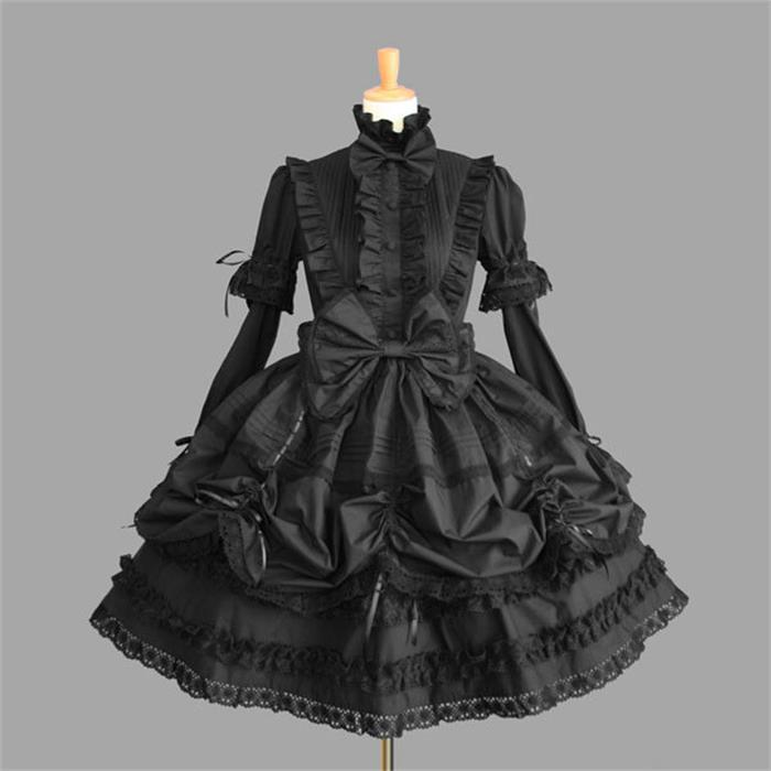 Victorian Gothic Lolita Dress Halloween Princess Dress Cosplay Lolita Costume Lady Maid Layered Dress Cosplay Games