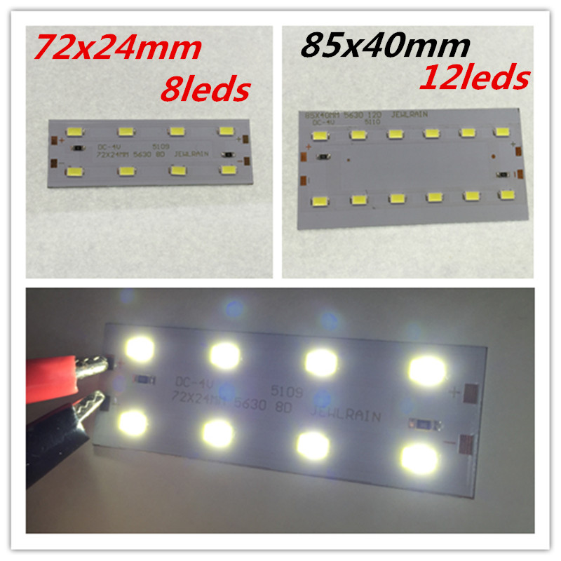 <font><b>4V</b></font> <font><b>LED</b></font> 5630 absorb dome light transform light board Avoid driving power supply 85x40mm or 72X24mm lamp plate image