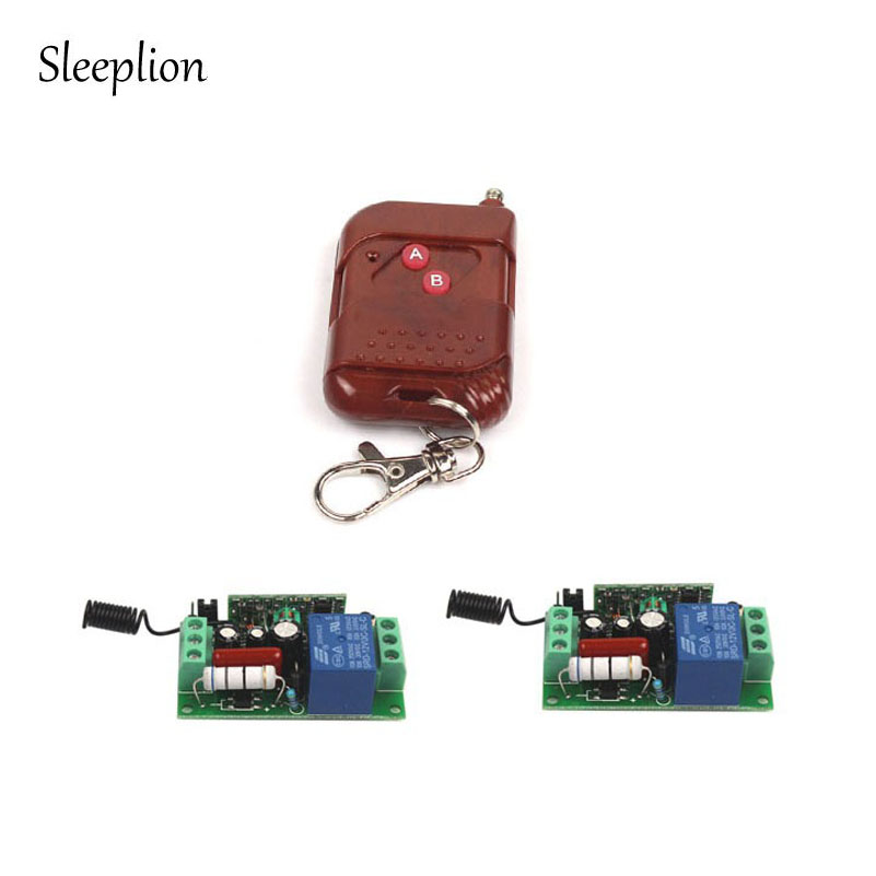 Sleeplion AC 110V 10A 1CH Wireless RF Technic Relay Remote Switch Transceiver+2 Receiver 315MHz 433MHz Mudole drf4431f13 433mhz 13dbm rf wireless transceiver module