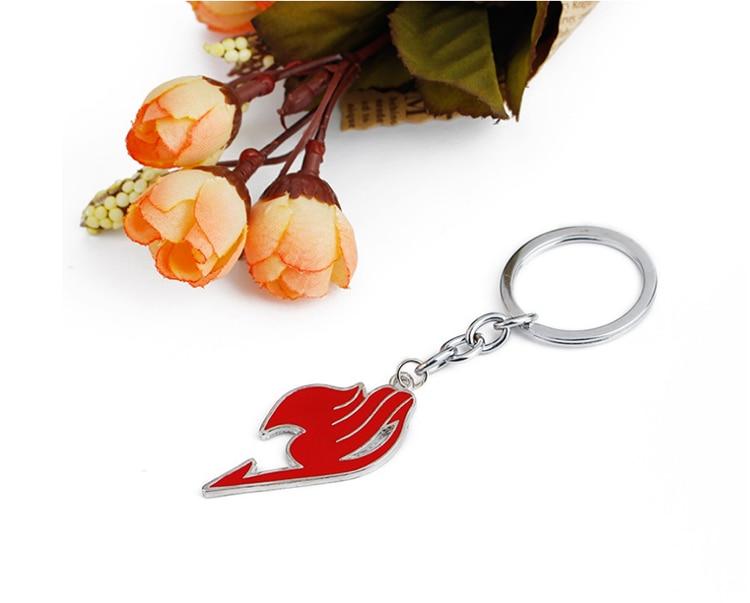 ZRM модный брелок в виде сказочного хвоста, брелок в виде животного, эмалированный кулон, брелок для ключей, держатель, наз и Люся, косплей, Chaveiros Dropshipp - Цвет: Red
