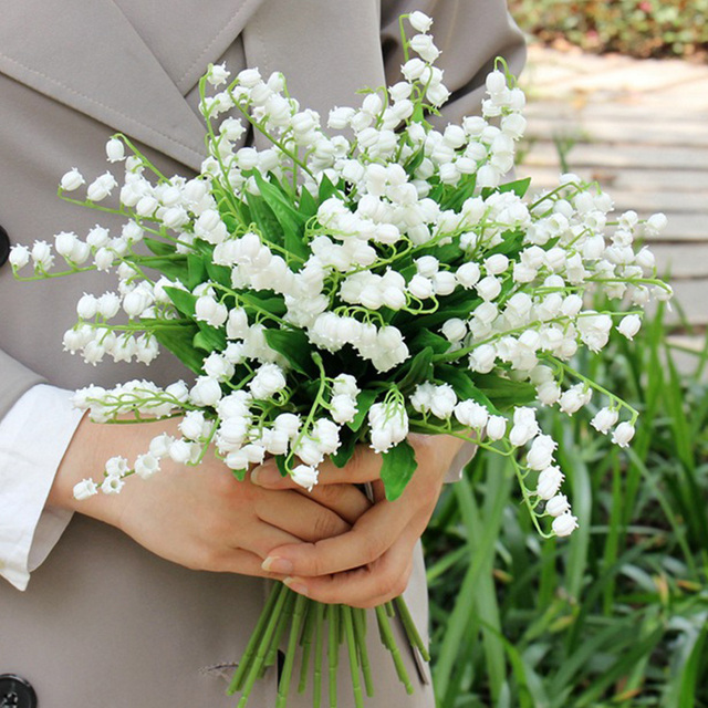 Artificial white flowers home decoration lilies fake mini artificial white flowers home decoration lilies fake mini babysbreath flowers small gypsophila plastic flower for wedding mightylinksfo