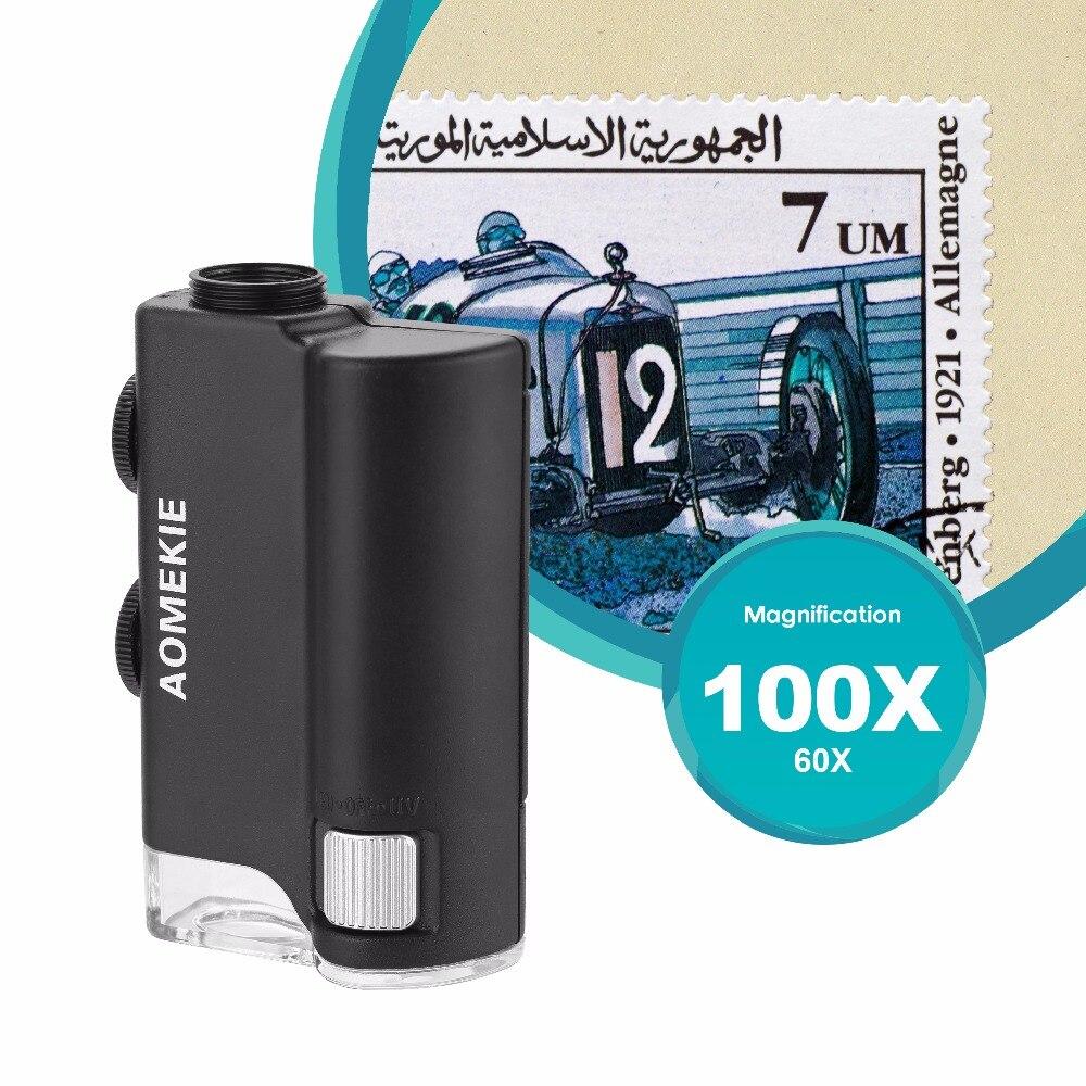 AOMEKIE 60X-100X mikroszkóp zoom nagyítóval a mobiltelefon - Mérőműszerek - Fénykép 2