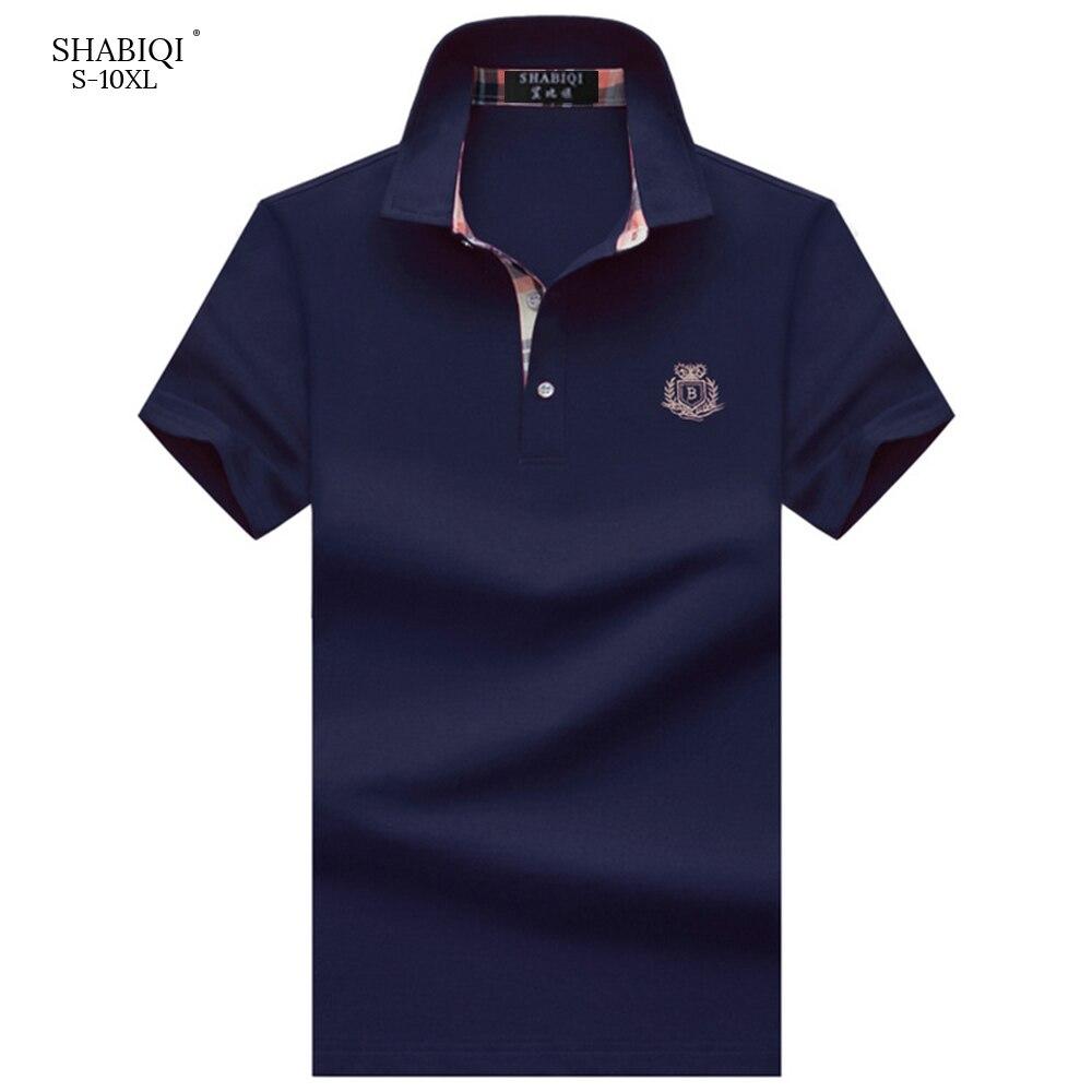 SHABIQI Brand Men Clothes 2019   Polo   Shirt Men Shirt Men's Fashion Short Sleeve Shirts Breathable & Plus Size Good Quality   Polo
