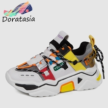 DORATASIA 2019 New INS Hot Brand Patchwork Sneakers Women Autumn Girl lace-up Flats Casual Platform Shoes Woman