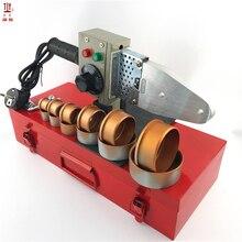 Soldador de tubos de plástico, 1 conjunto ac220v 800w DN20 63mm máquina de solda ppr, soldador de tubulação de água para aquecimento ppr