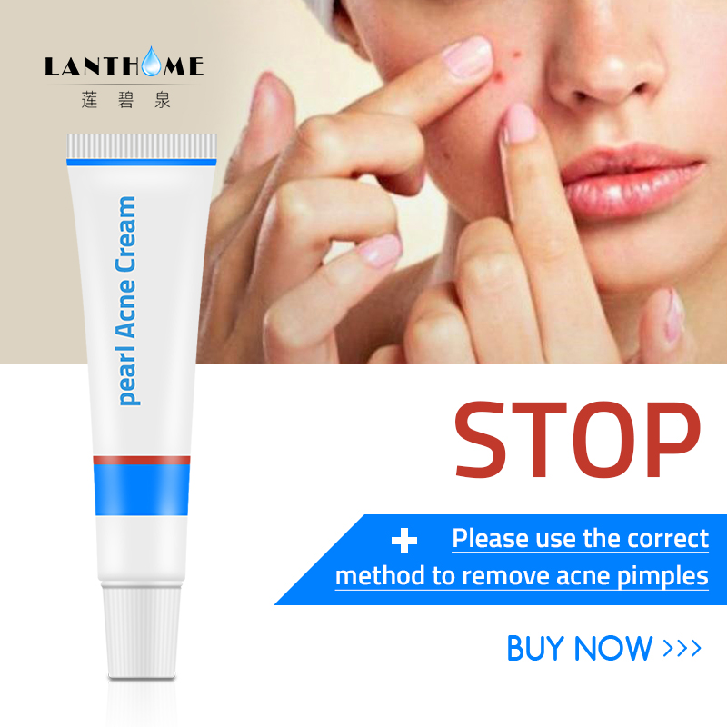 Lanthome Anti Mite Rosacea Cream Pearl Whitening Acne Treatment Blackhead Remover Ointment Shrink Pores Face Care Oil Control