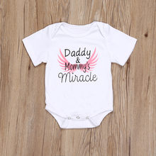 Newborn Kids Baby Girls Boys Clothes Short Sleeve Father's Day Daddy Letter Print Romper summer toddler boy clothes Jumpsuit(China)