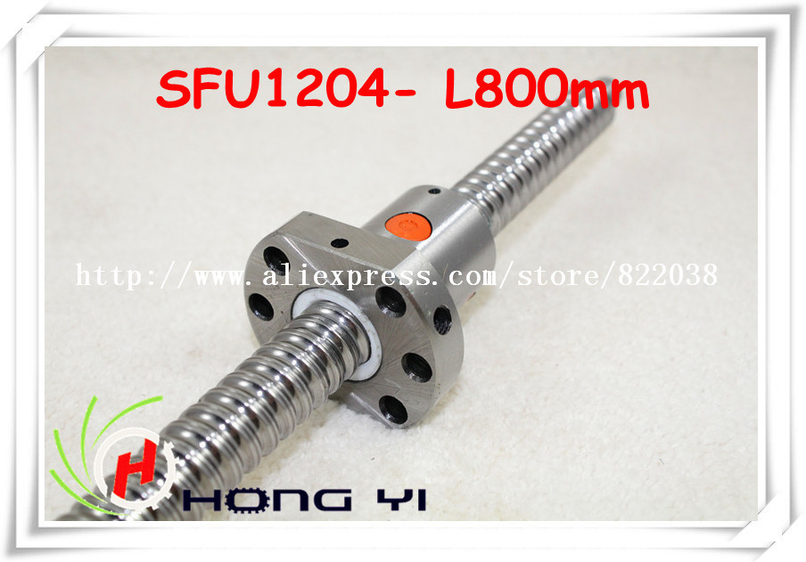цена 12 Ball screw SFU1204 - L800mm+ 1pcs Ballscrew Ballnut for CNC and BK/BF10 standard processing