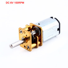 6V 100RPM Miniature Electric Reduction Metal Gearbox for RC robot model Toy DIY engine Camera motor(China)