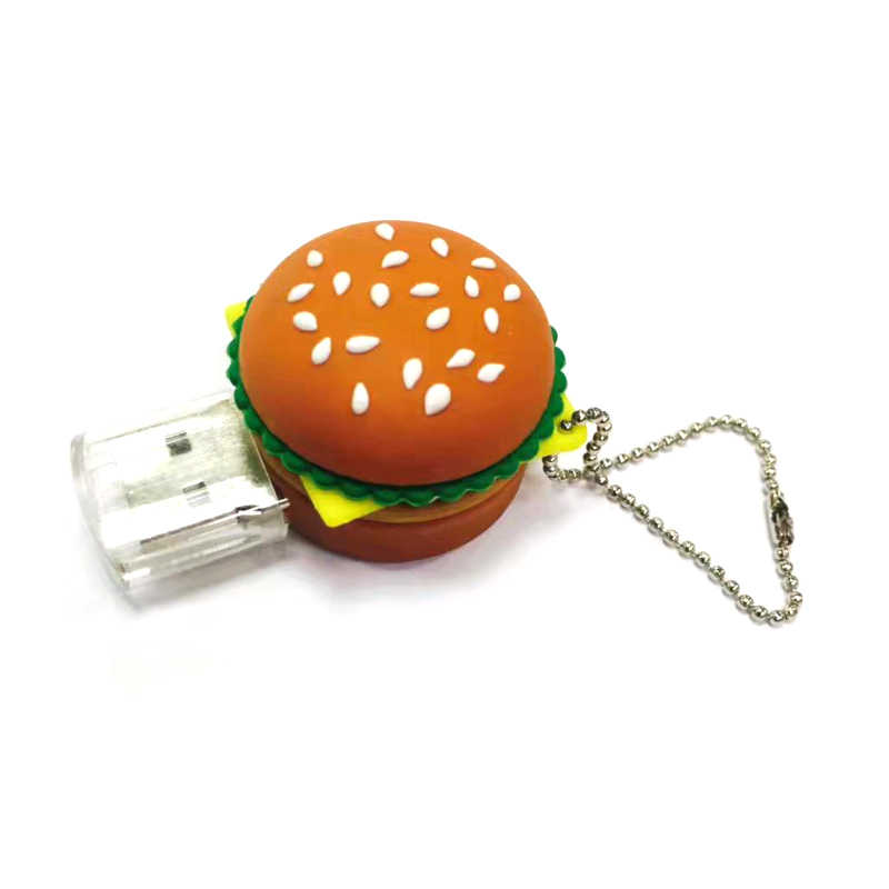 Alimentos hamburger usb flash drive sushi criativo melancia pendrive pen drive 1 GB 4 GB 8 gb 16 gb 32 gb memory stick u disk presente brinquedo