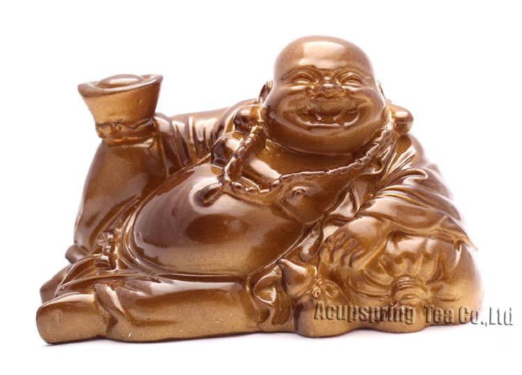 Amzing Allochroic Mascot, Golden Buddha, Ornament, tea pet,Fengshui, Best Gifts,present,will change color,S1032D, Free Shipping