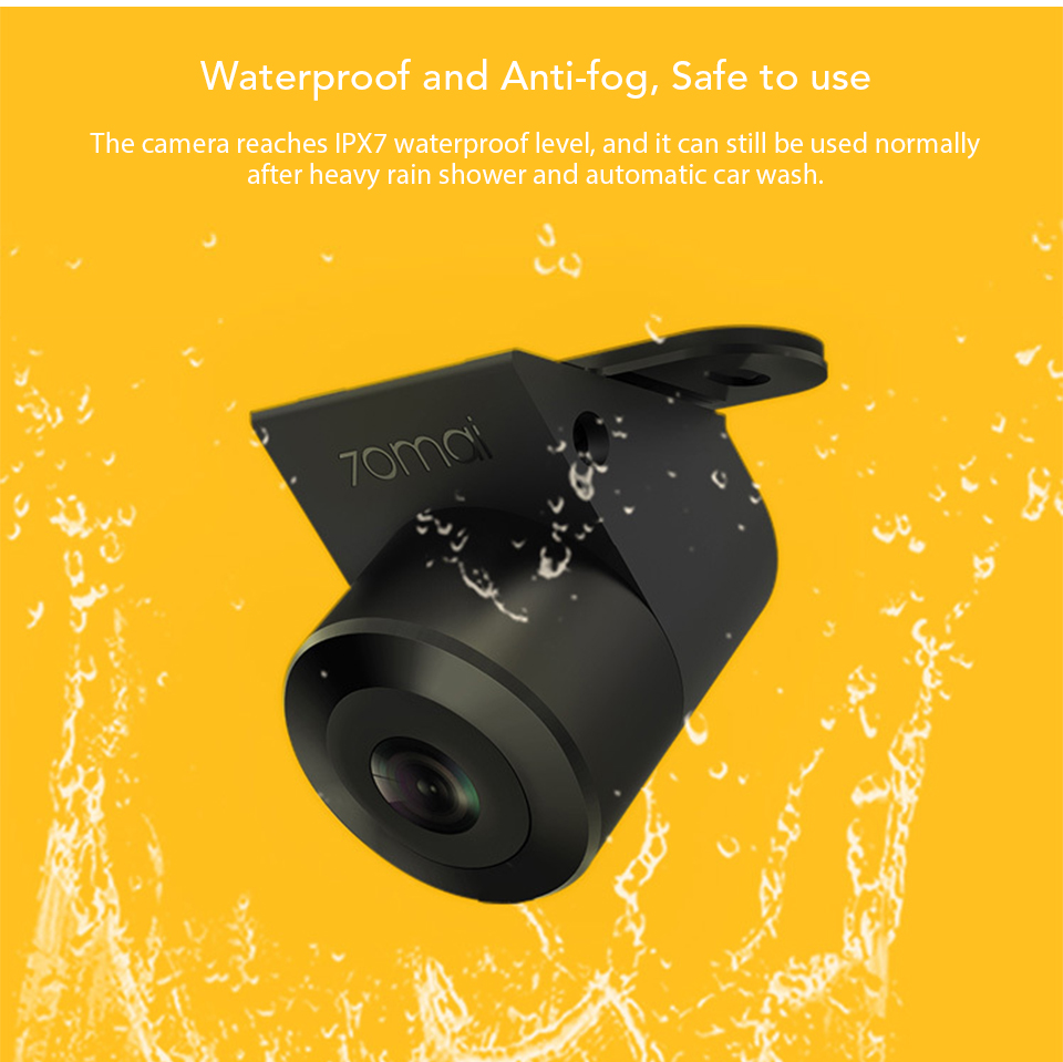 Xiaomi 70mai Reversing Rear Camera 720P HD Night Vision IPX7 Waterproof Double Recording 138 Degrees Wide Angle (6)