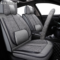 kokololee fabric car seat cover For kia rio 3/4 alfa romeo 159 chrysler 300c geely atlas volvo v50 seat ateca car seat protector