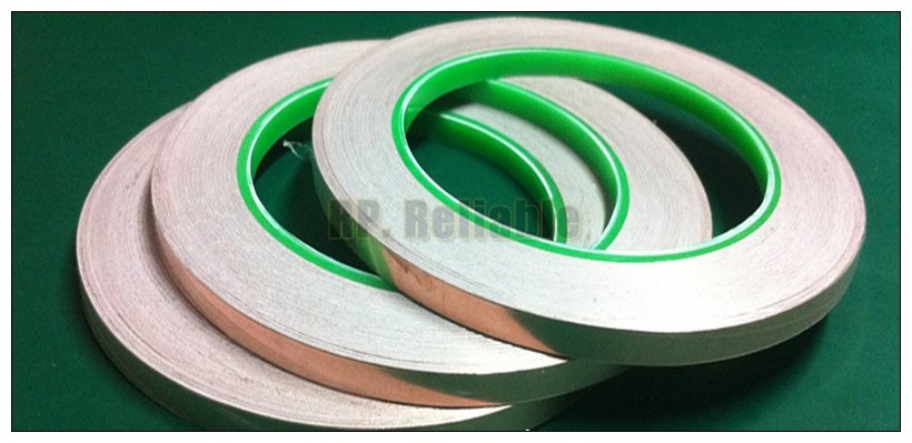 1x 5mm*30M Double Sided Conductive Copper Foil Tape EMI Masking Electromagnetic Shielding Electrostatic Discharge