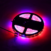 5M Waterproof LED Strip Grow Lights 5050 SMD Red Blue Growing Lamp for Aquarium Greenhouse Hydroponic Plant Garden Flowers