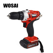 WOSAI 16V Two-Speed Rechargeable Hand Drill cordless Lithium Battery Electric Drill Mini Drill Screwdriver Wireless Power Drive