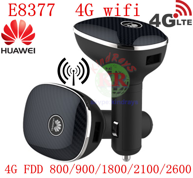 Unlocked Huawei CarFi E8377 Hilink LTE Hotspot 4G 150Mbps LTE 12V Car Wifi Router ...