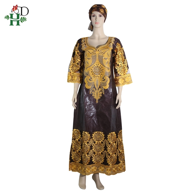 2019 african clothing african dresses for women headwraps robe south africa  bazin riche wax dress plus