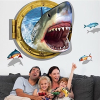 Hot Sale New 14 Style 3D Strong Stereo Wall Stickers PVC Waterproof Living Room Bathroom Moisture