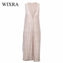 Wixra Long Cardigan Summer Women Kimono Knitted Tops Casual Blouse For Women Crochet Poncho Cardigans and Sweaters for Ladies