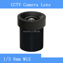 Factory outlets CCTV Lens 6mm 60 Degree Wide Angle Lens Fixed CCTV Camera IR Board M12 Lens