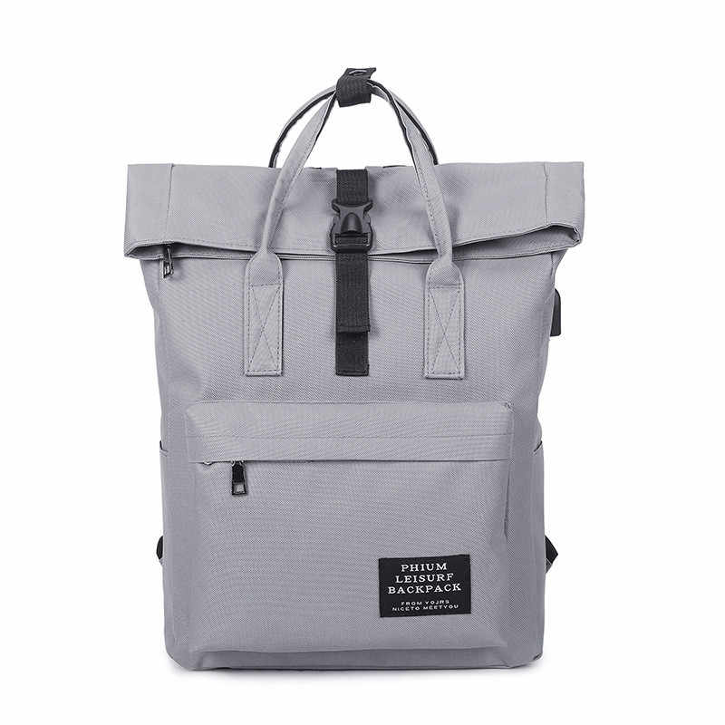 ccdad72b7eac New Women External USB Charge Backpack Canvas Backpack Male Mochila Escolar  Girls Laptop Backpack School Bags Backpack for teens