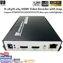 H.265 Encoder with HDMI input , support H.264/H.265 for IPTV broadcasting RTMP RTSP ONVIF