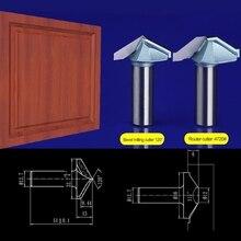 2pcs/set 12.7*32.7mm Bevel milling cutter+12.7*38mm Door frame knife Chest/Door wood flat edge trimmer milling cutter  4720