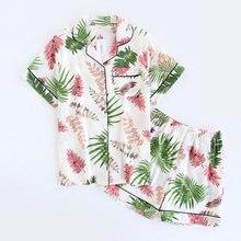新しい夏パジャマセット半袖パジャマプリントスパースターmujer綿のスパースターのファムセクシーなパジャマカジュアルランジェリー下着