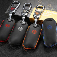 High quality Leather OEM key cover 2017-2020 For KIA Stinger car key case holder 3 button car accessories