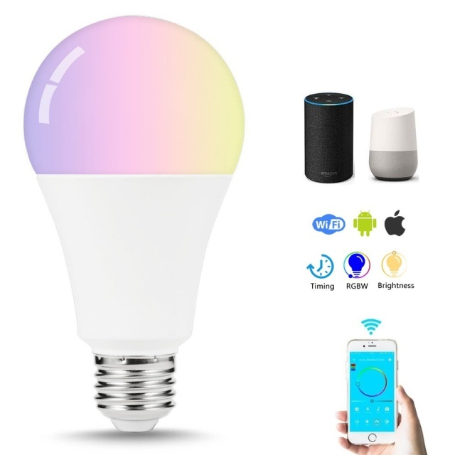 Wifi Smart Light Bulb 7w Remote Control Led E27 Dimmable Bedside Night Lamp