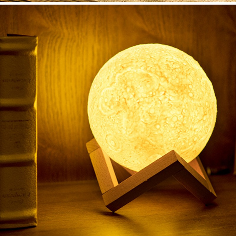 3D Printing Led Moon Light Home Decoration Atmosphere LED Night Llight Christmas Gift USB Moon Lamp Table Lamp Touch Sensor