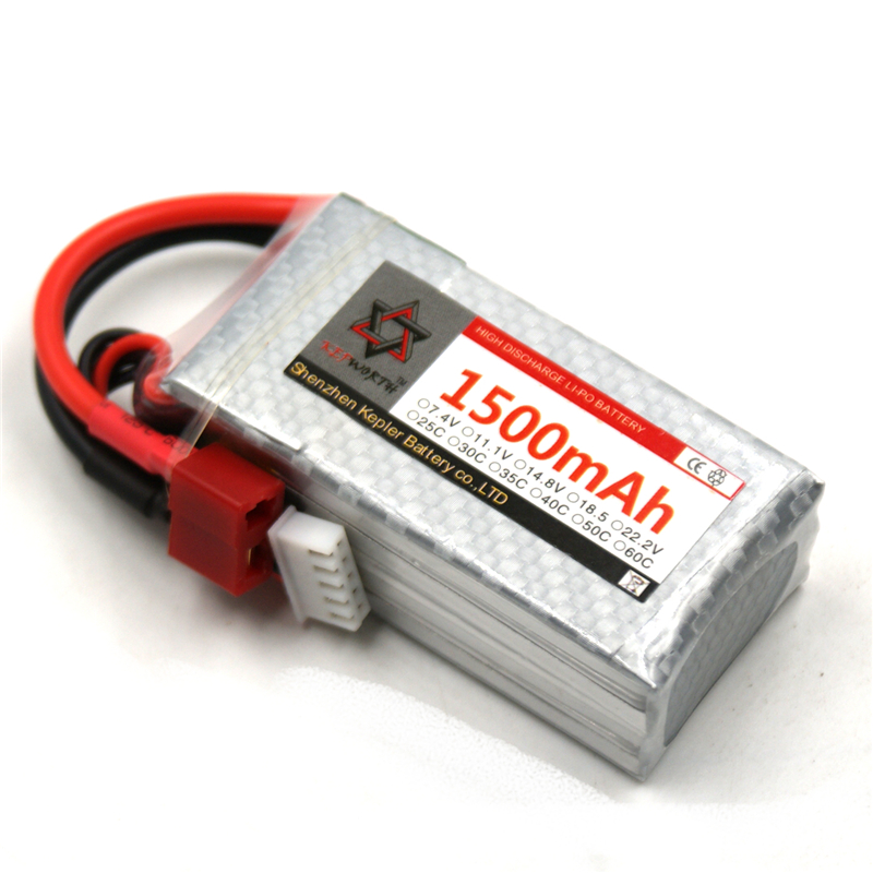 <font><b>Lipo</b></font> Battery <font><b>4s</b></font> 14.8v <font><b>1500mAh</b></font> 35c Li-Polymer Battery For RC Car Plane Boat Helicopter Airplane Truck Tank image