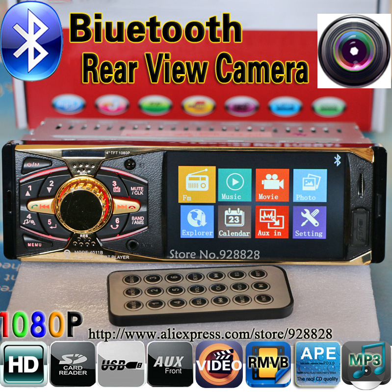 Car Radio MP3 Player 4.0 HD Supports Bluetooth/Rear view camera/1080P/Stereo FM /5V Charger/MP4/MP5Audio/Video/Electronics/auto