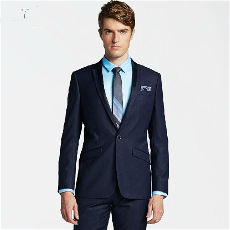 Aliexpress.com : Buy New style men's black suit the groom dress ...