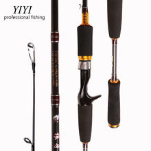 Low-cost YIYI M+ML 2Top Cadet Ultralight Carbon Spinning Casting Fishing Rod 2.10m Baitcasting bass Rods