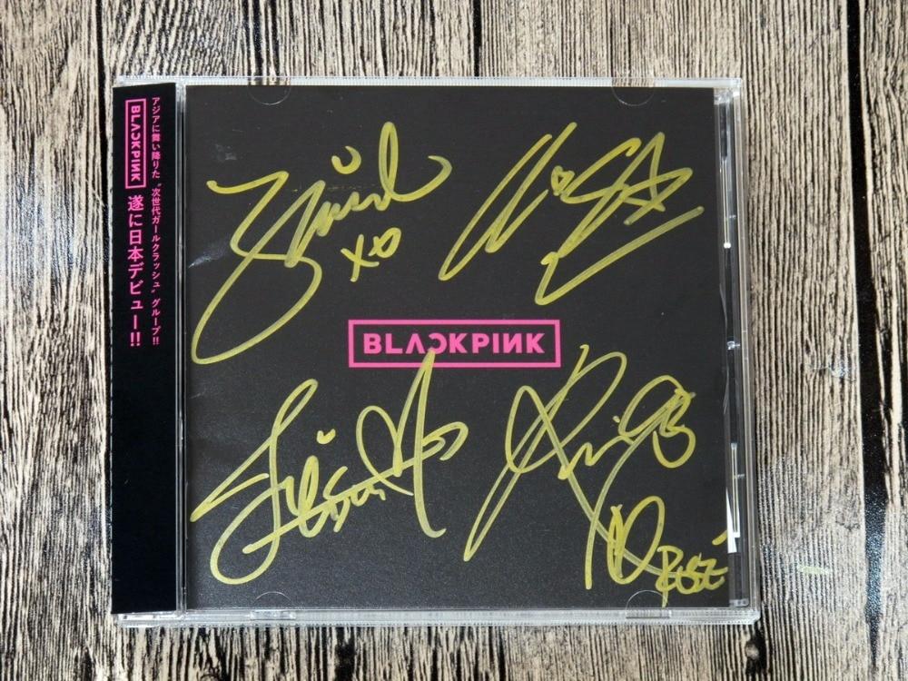 signed BLACKPINK autographed original first album  BLACKPINK Japanese version 102017 signed lana del rey autographed album lust for life amercan version 082017