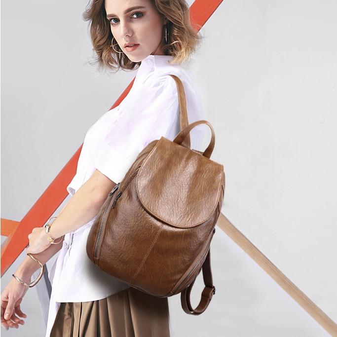 80e23166a331 2018 Fashion Women Backpacks PU Leather Backpack Shoulder Bags Daypack for Women  Female Rucksack Feminine Mochila