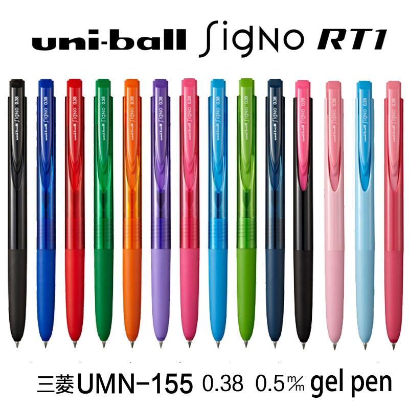 1pc Mitsubishi Uni Japan Gel Pen Uni-ball 0.38/0.5mm 10 Colors Signo RT1 UMN155 Ballpoint/Neutral Pens School&Office Supplies