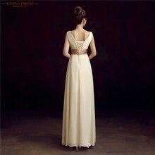 YIDINGZS Robe De Roiree Double Shoulder Simple Pleat Chiffon Long Evening Dresses
