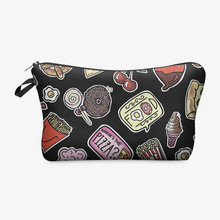 New novel old school handbag Maleta de Maquiagem Necessaire Wild Party design Makeup Bag Women Organizer