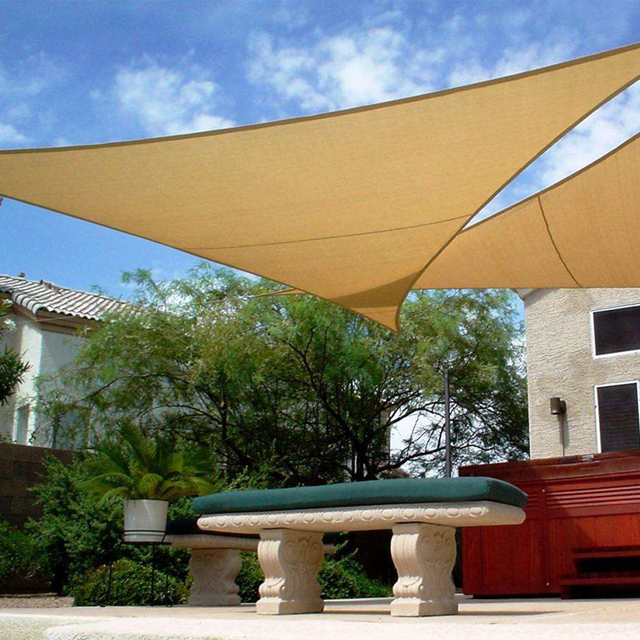 New HDPE Garden Shade Sail Canopy Square Sun Net 333M Combination