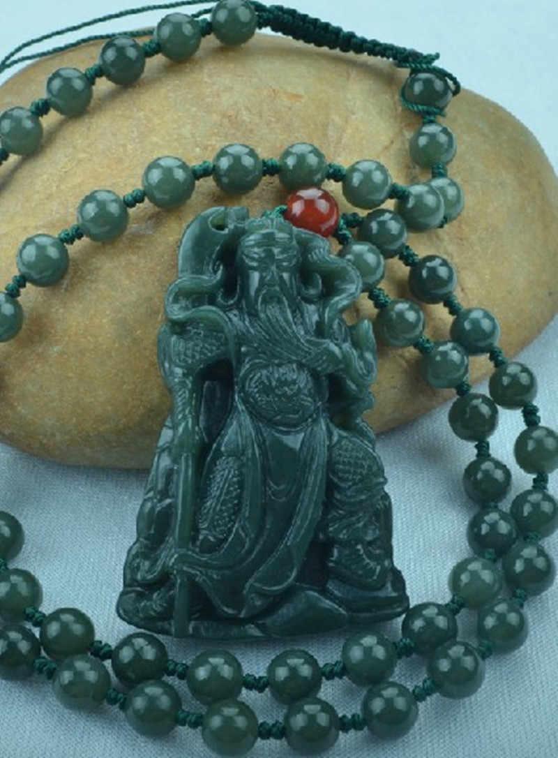 Militantly głosić hetian jade guan gong wisiorek 18 arhatów naszyjniki wu mamonie duke guan marka