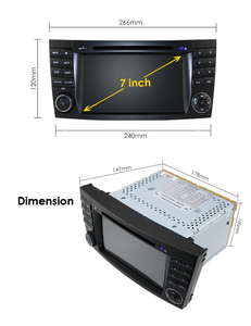 Image 4 - 2019 New Car DVD Player For Mercedes Benz E Class W211 W209 W219 Radio Stereo GPS Navigation System DAB BT USB Free Camera+8gMap