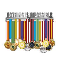 DDJOPH wieszak na medal inspirujące medale wieszak stalowy uchwyt na medal dla 32 + medale