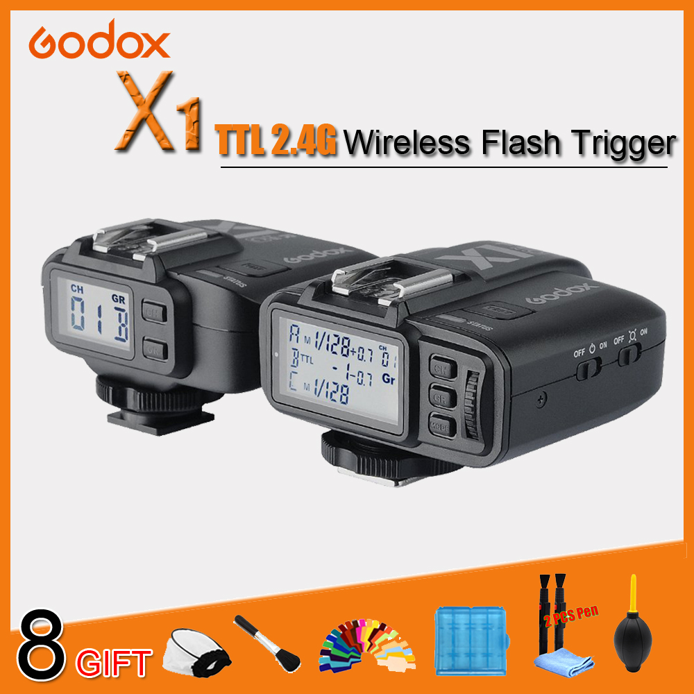 Godox X1t X1 kit TTL 2.4G sans fil Flash déclencheur émetteur récepteur pour Canon pour Nikon pour Sony TT685 V860 II Flash speedlite