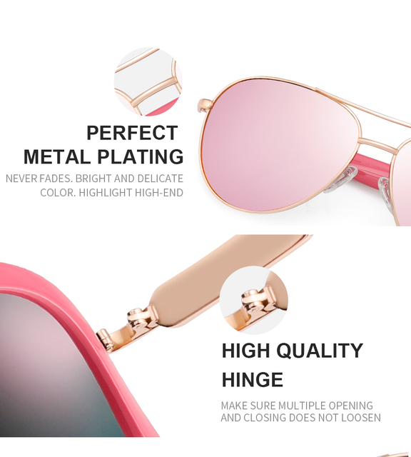 FENCHI Pink Polarized Mirror Glasses  4