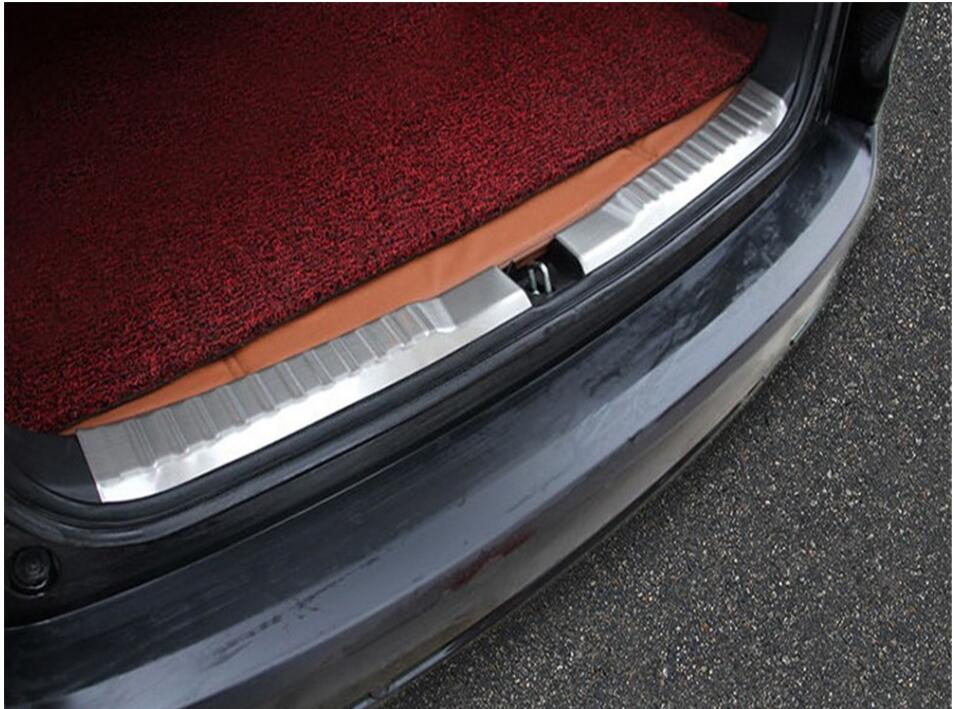 For Honda CRV CR-V 2015 2016 Stainless Steel Rear Trunk Scuff Plate Door Sill Cover Molding Garnish 2 Pcs / Set