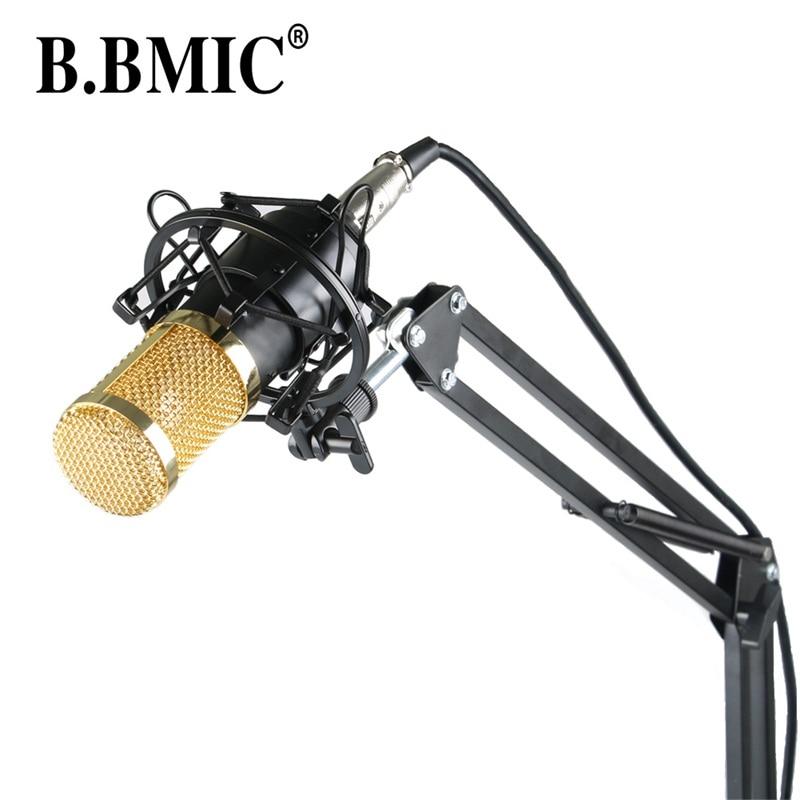 ФОТО Microphone Professional BM800 Condenser KTV Microphone  Pro Audio Studio Vocal Recording Mic KTV Karaoke+ Metal Shock MountMB800